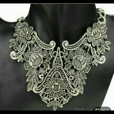 Fashion necklace Silver tone bib necklace new Jewelry Necklaces