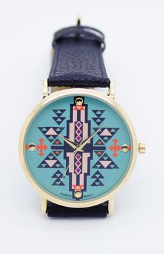 Turquoise tribal watch