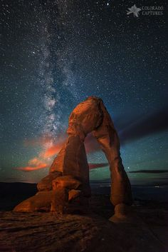 Delicate Arch, one of the most famous landmarks in Utah, at Arches National Park.