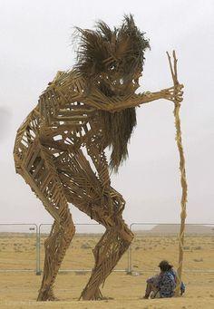 Rony: Wow is making a beautiful statue making artwork making it [& Burning Man Sculpture, Burning Man Art, Sculpture Art, Burning Man Fashion, Burning Man Outfits, Land Art, Man Photo, Art Festival, Nevada