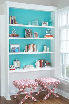 This peacock blue paint color, by Benjamin Moore, is bright and playful, yet sophisticated at the same time.