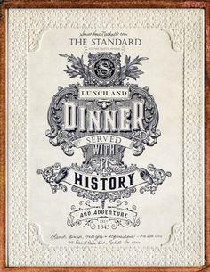 The Standard: Served with history