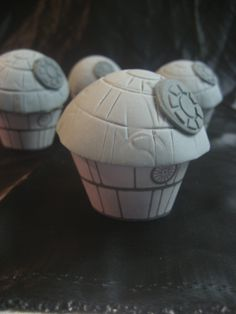 Star Wars DEATH STAR Cupcake Toppers and Wrappers - Edible Birthday, Shower, Bridal, Wedding. $40.00, via Etsy.