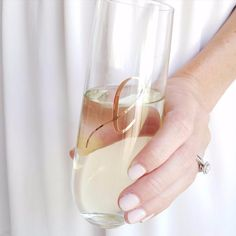 Pair a mini bottle of champagne with our sweet and dainty single monogram champagne flute, for the perfect bridesmaid proposal gift!