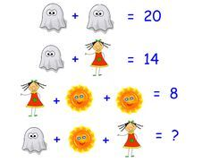 The answer is 16 Algebra Activities, Maths Puzzles, Math Worksheets, Math Games, Teaching Math, Logic Math, Math Problem Solving, Maths Starters, Reto Mental
