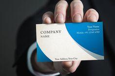 Photorealistic business card mockup set from DesignBundles.net