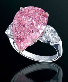 Graff Fancy Vivid Pink Pear Shaped Diamond Ring - (johnfenzel.typepad)