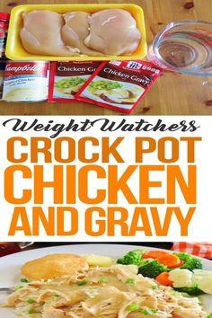Crockpot Chicken And Gravy recipes healthy crockpot Best Crockpot Recipes, Cooker Recipes, Beef Recipes, Healthy Recipes, Chicken Recipes, Bariatric Recipes, Soup Recipes, Healthy Food, Recipies