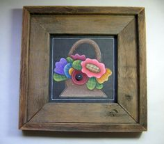 Hand Painted Basketful of Posies in a by barbsheartstrokes on Etsy, Barn Wood Picture Frames, Country Paintings, Tole Painting, Rustic Barn, One Design, Etsy Handmade, Handmade Gifts, Arts And Crafts, Hand Painted