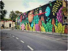 #colorful #Bucharest Foto: Vlad Eftenie Satirical Illustrations, Street Installation, Bucharest, Outdoor Art, Street Artists, 3d Design, Romania, Graffiti, Fair Grounds