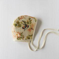 Wild Rose Linen Bonnet by Under A Tin Roof