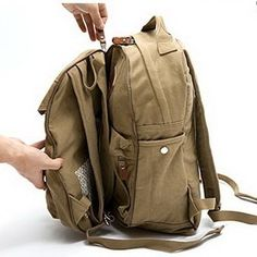 Fancy - Utility 2 in 1 family canvas backpack