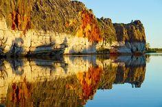 Geikie Gorge - Farbexplosion bei Sonnenuntergang - Fitzroy River - Kimberley - Western Australia