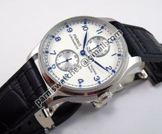 Parnis 43mm blue Power Reserve automatic ST 2542 W -- blatant knock-off of IWC Portuguese for under $100