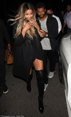Ciara sexes up date with Russell Wilson in leather thigh-high boots - Celebrity Fashion Trends