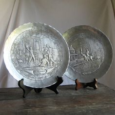 Pewter Collectors Plates