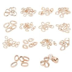 Gold Plated Chunky Chain Plastic Link Connectors Necklace Craft DIY M2026
