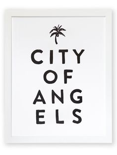"""City of Angels Letterpress Art Print 