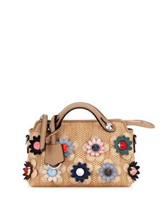 By+the+Way+Mini+Floral+Straw+Satchel+Bag,+Natural/Multi+by+Fendi+at+Bergdorf+Goodman.