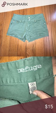 Charlotte Russe shorts Olive green colored jean shorts refuge Shorts Jean Shorts