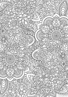Flower Doodle Printable Adult Coloring Page From Favoreads