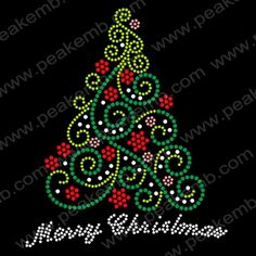 Wholesale Christmas Tree Rhinestone Transfers