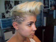 designs-girlz shaved hairdo haircut