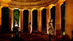 Shrine of Remembrance, Brisbane - ANZAC Day, April I was at the service here this morning, and have been there almost every ANZAC Day since I moved back to Brisbane. It is the most sobering experience. Lest We Forget Anzac, War Medals, Remember The Fallen, International Holidays, Anzac Day, Fallen Heroes, Modern Times, Holidays And Events, Brisbane