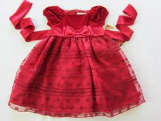 SWEET HEART ROSE Party Holiday CHRISTMAS Dress   BABY Girls sz 3 Reds NEWSWEET H