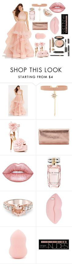 """Rose crystal choker ♡💕"" by fashionlovesmia ❤ liked on Polyvore featuring Alyce Paris, Ettika, Sugarbaby, Liebeskind, Lime Crime, Elie Saab, STELLA McCARTNEY, Forever 21 and Charlotte Russe"
