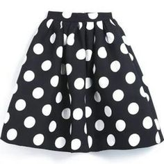 Pixley Dresses & Skirts - Cute navy and white polka dot skirt - would love to try on this skirt, and would need a top to go with it.