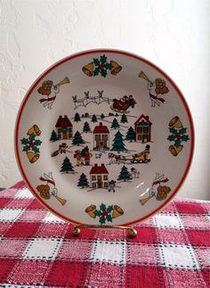 Christmas Dessert Plates Set of 6 Christmas Salad by TwoArtisans & Christmas Dessert Plates Set of 6 Christmas Salad Plates The ...