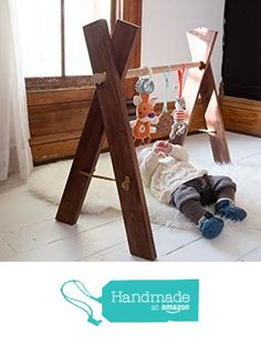Natural Wooden Baby Gym - Kids Activity Gym Eco Friendly Nursery Furniture from WhiskyGinger http://www.amazon.com/dp/B01BQS2YYY/ref=hnd_sw_r_pi_dp_m6Z6wb0GP538Z #handmadeatamazon