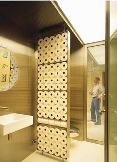 Toilet Paper Room Divider — Western Interiors and Design