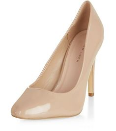 Nude Patent Court Shoes