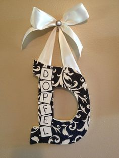 Personalized Letter Wall Hang by DopfelDesigns on Etsy, $15.00