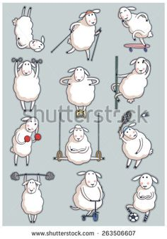 Find Sheep Sport Set stock images in HD and millions of other royalty-free stock photos, illustrations and vectors in the Shutterstock collection. Funny Sheep, Cute Sheep, Feed My Sheep, Sheep Drawing, Sheep Tattoo, Sheep Illustration, Sheep Art, Sheep And Lamb, Cartoon Sketches