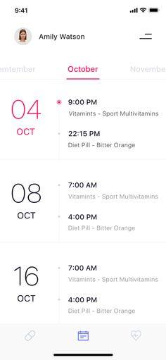 Medical reminder calendar