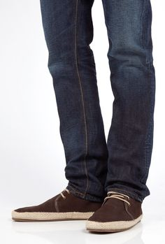 Chocolate Washed Suede Espadrille Chukka Boots by Hudson