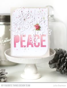 Pink Snow Peace Card