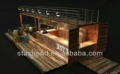STAXBOND container cafe restaurant with patio double-story