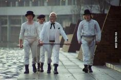Colonel Sanders leading the boys