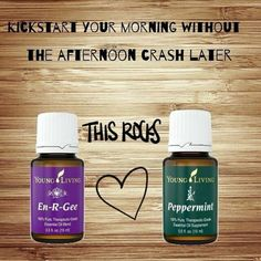 Young Living En-R-Gee and Peppermint essential oils | For more information and to order yours, visit: www.TheSavvyOiler.com