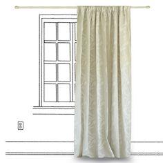 Κουρτίνα 250x280cm Twist Εκρού - pennie.gr