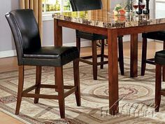 7pc Formal Dining Table U0026 Chairs Deep Cappuccino Finish | Gardens, Room Set  And Home