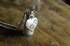 personalised dog necklace by shiningstarjewellery on Etsy