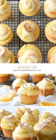 Orange Rolls Recipe - Orange rolls are a a definite family favorite at our house and it wouldn't be a holiday dinner without them. The fact that you can make them the night before is a bonus. Breakfast Recipes, Dessert Recipes, Breakfast Buffet, Breakfast Items, Delicious Desserts, Yummy Food, Orange Rolls, Orange Recipes, Lunch Snacks