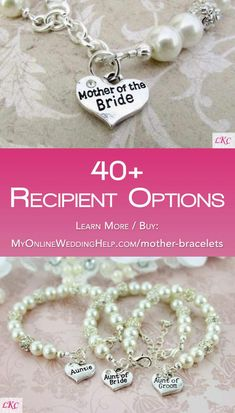c302f5a56692 Mother of the bride (MOB) gift jewelry idea  a heart charm bracelet.