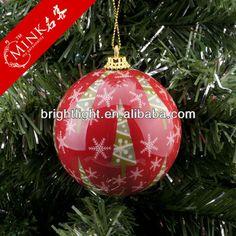 MINK80mm christmas ball,ceramic christmas ball clear plastic ball christmas