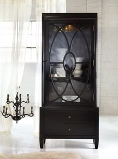 Ebony Art Deco Curio Cabinet